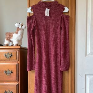 Dresses & Skirts - NWT Wine Turtle Neck Dress